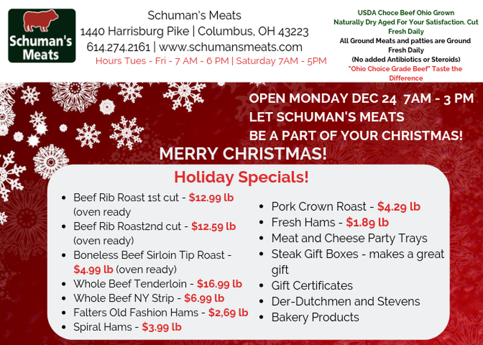 holiday meat specials